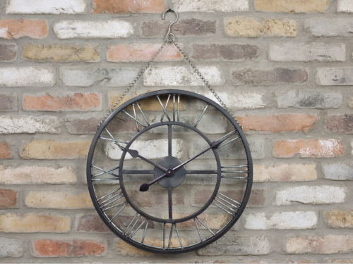 Large Hanging Metal Clock